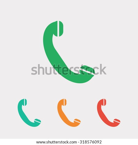 Phone, flat icon, vector illustration. Flat design style