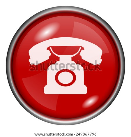 Phone icon. Internet button on white background.  - stock vector