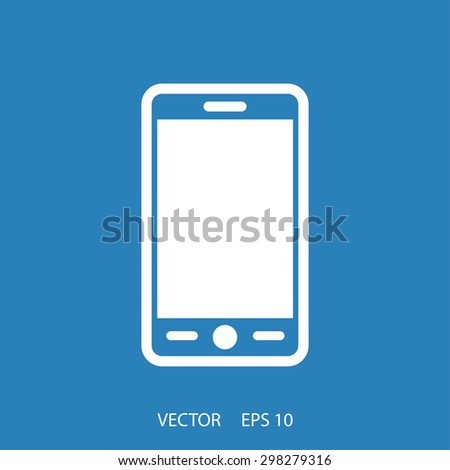 Phone icon. One of set web icons - stock vector