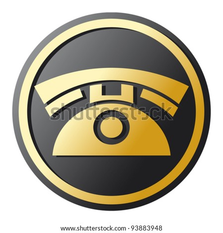 Phone Icon (telephone icon, phone button) - stock vector