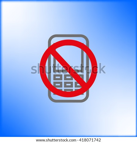 phone icon, vector illustration