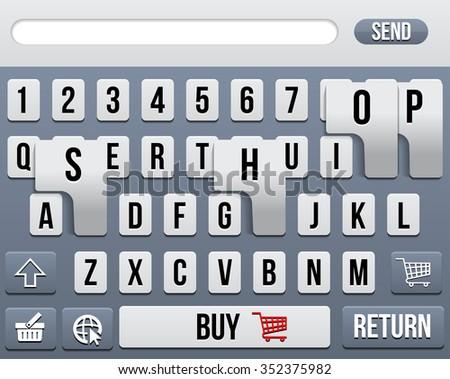 Phone Keyboard. Concept online shop - stock vector