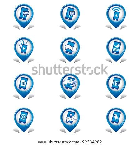 Phone Media Icons - stock vector