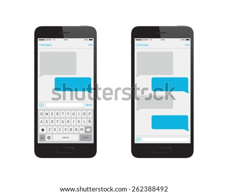 Message Phone Template Stock Vector 277249142 - Shutterstock
