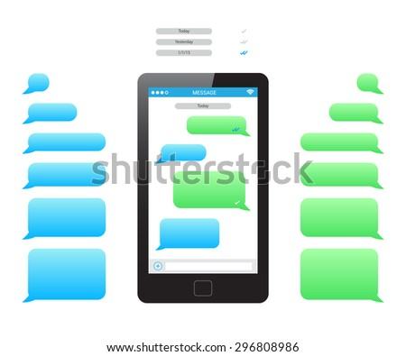 Message Phone Template Stock Vector   Shutterstock