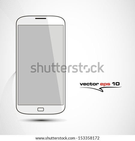 phone mobile white design in vector format - stock vector