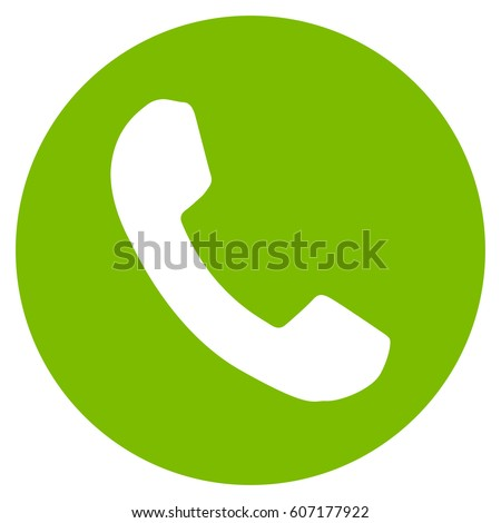 Phone Number Vector Icon Flat Eco Stock Vector 607177922 Shutterstock