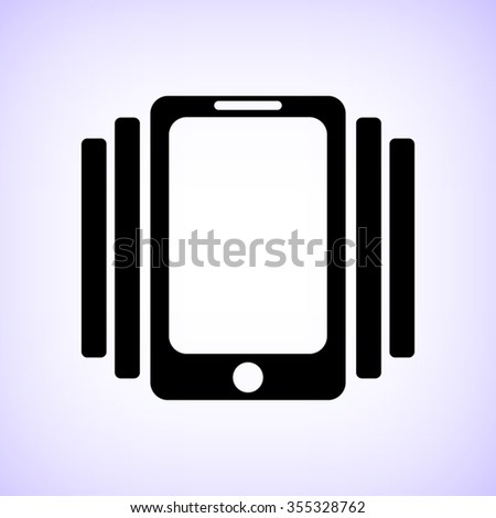 Phone On Vibration -  black vector icon