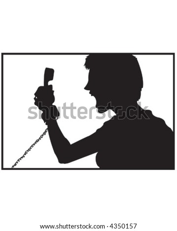 Phone Rage V1 - stock vector
