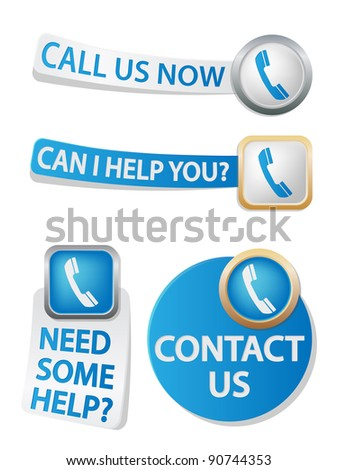 phone related icons - stock vector