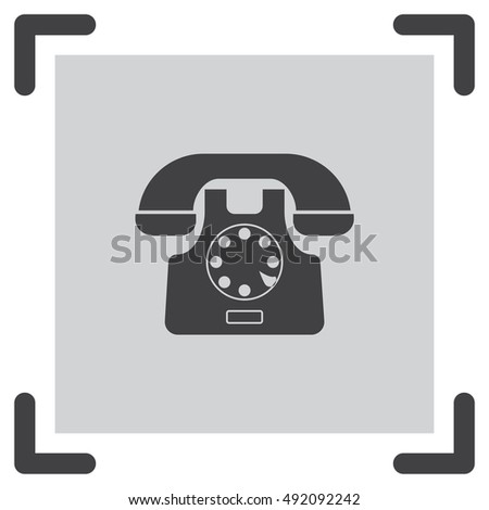 Phone sign vector icon. Call symbol. Support symbol icon.