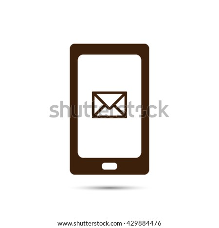 phone sms icon - stock vector