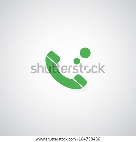 phone symbol on gray background  - stock vector