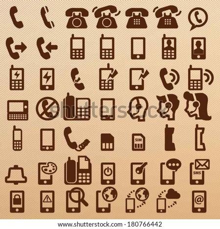 Phone symbols - stock vector