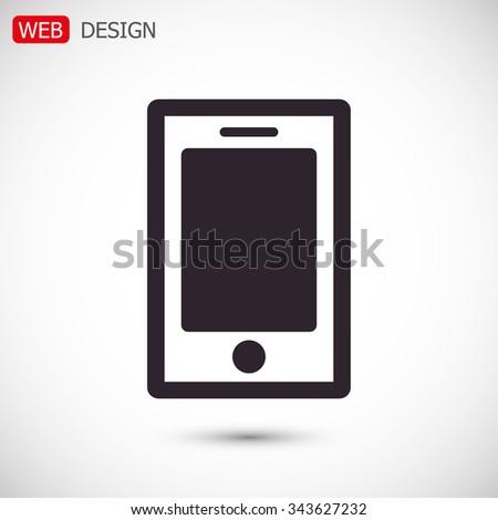 phone vector icon - stock vector