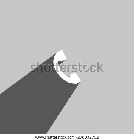 Phone web icon on gray background - stock vector