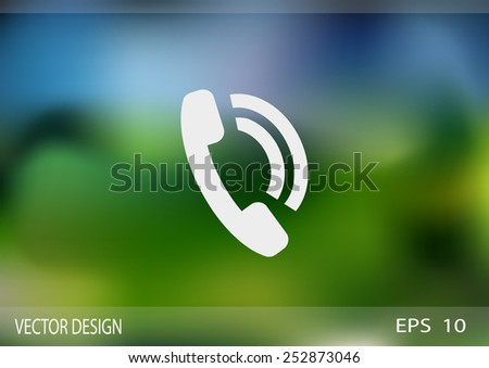 phone web icon. vector design - stock vector