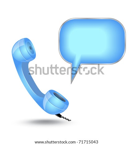 phone with chat box - stock vector