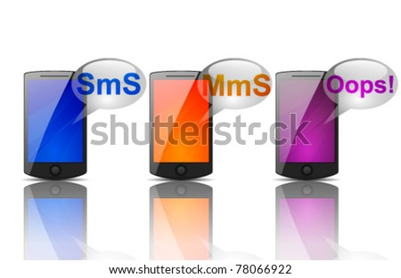 Phones - stock vector
