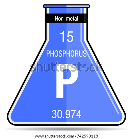 Phosphorus symbol on chemical flask element stock vector 2018 phosphorus symbol on chemical flask element number 15 of the periodic table of the elements urtaz Image collections