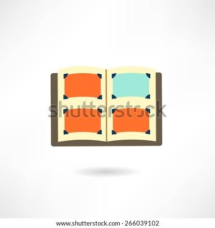 photo album, illustration - stock vector