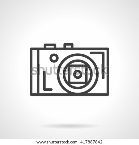 Photo Camera Front View Equipment Professional Stock Vector