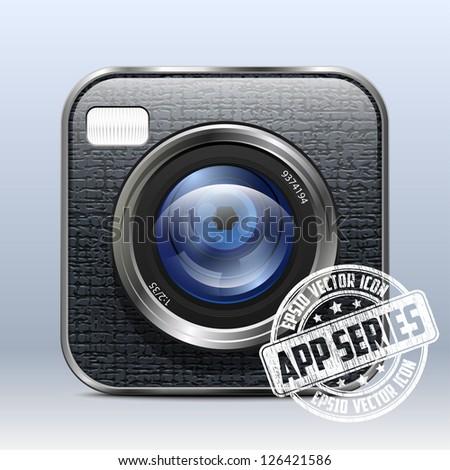 Photo Camera App Icon - stock vector