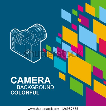 photo camera colorful element background / eps8, no transparent - stock vector