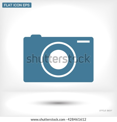 photo camera icon. Vector  Eps 10