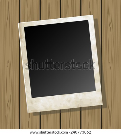 Photo card on texture background vector - stock vector