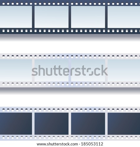 Photo - film tapes vector set  - stock vector