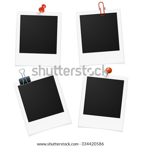 Photo Frame Isolated on Transparent Background. Vector illustration - stock vector