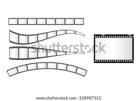 photo frame 35mm easy editable - stock vector