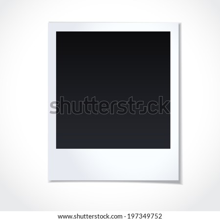Photo frame on white background. Vector illustration. - stock vector
