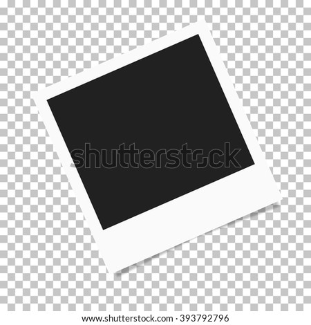 Photo frame retro Illustration. Photo frame isolated on a background. Photo frame mock up. Photo frame border. Photo frame on plaid background. Photo frame retro. Photo frame - stock vector - stock vector