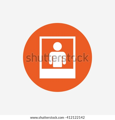 photo frame template human selfie sign stock vector 412122142