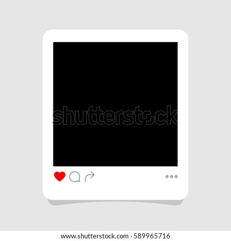 Photo frame vector illustration
