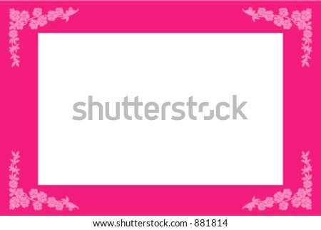 Photo frame with flowers - stock vector