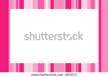Photo frame with strips - stock vector