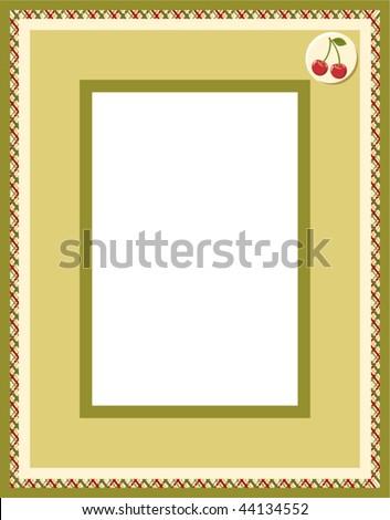 Photo framework - stock vector
