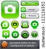 Photo green design elements for website or app. Vector eps10. - stock vector