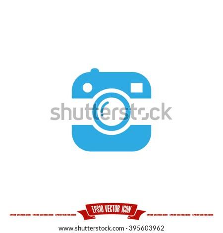 Photo icon - stock vector