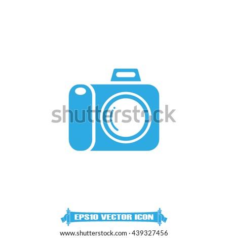 Photo icon vector illustration EPS 10 - stock vector