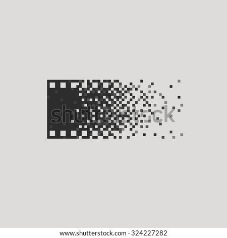 Photo logotype concept analogue digital versus film photography logo photographer cameraman - stock vector