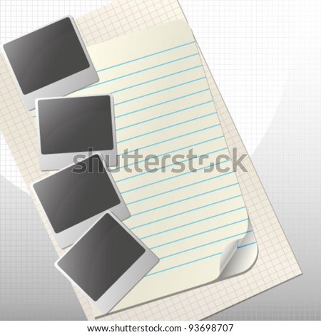 Photo on paper - stock vector