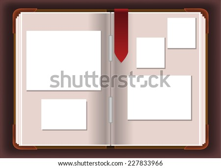 Photo Photograph Album vector illustration. - stock vector