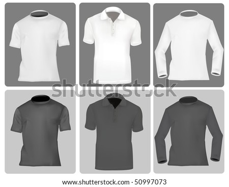 Photo-realistic vector illustration. Three kind of shirts (men).