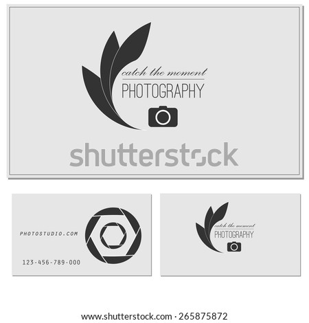 Photo studio logo business card template stock vector 265875872 photo studio logo and business card template vector photography logo templates photo cam logotype reheart Choice Image
