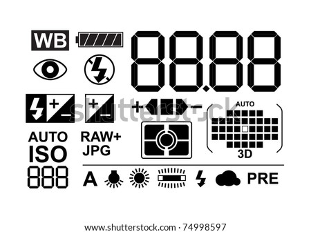 Photo symbols collection - stock vector