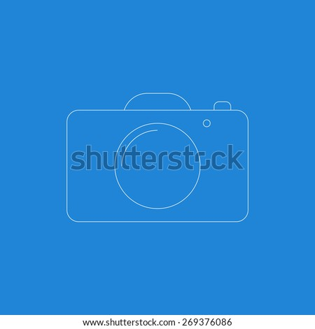 Photo video camera linear style icon. Vector illustration EPS8 - stock vector